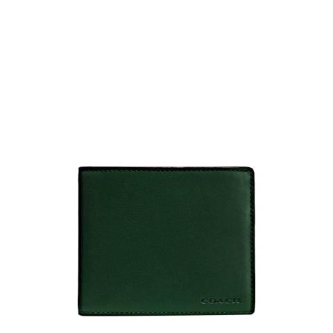 Coach Green Sport Calf Compact Id Wallet