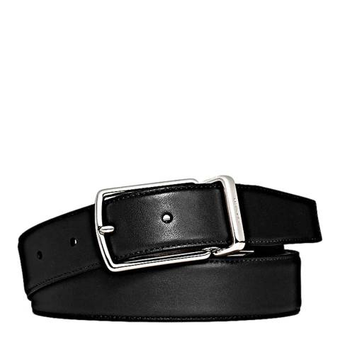 Coach Black/Dark Brown Modern Harness Cut To Size Reversible Smooth Leather Belt