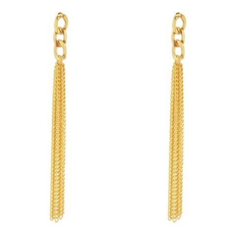 Chloe Collection by Liv Oliver Gold Chain Fringe Earrings