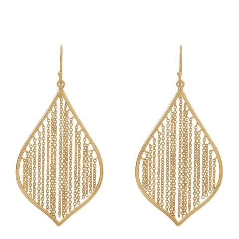 Chloe Collection by Liv Oliver Gold Cascade Fringe Earrings