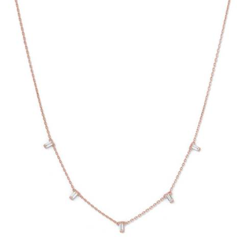 Chloe Collection by Liv Oliver Rose Gold Drape Necklace