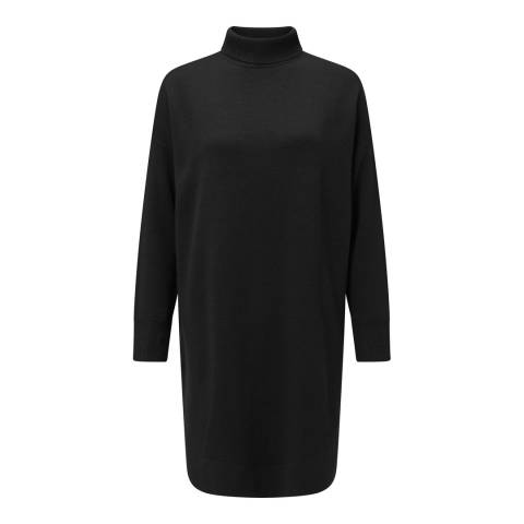 Baukjen Black Alicia Turtleneck Wool Dress