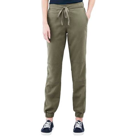 Lands End Olive Chino Patch Front Joggers