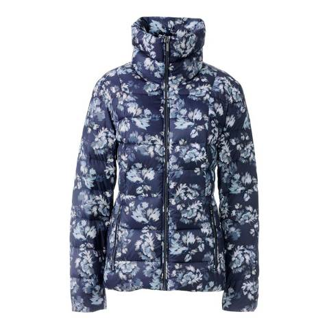 Lands End Deep Sea Lightweight Floral Down Jacket