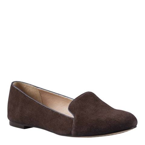 Lands End Brown Wide Vivian Venetian Pumps