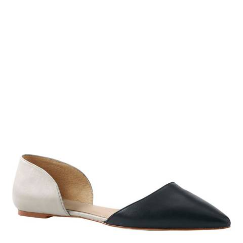 Lands End Black/Ivory D'Orsay Flat Shoes