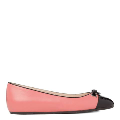 BALLY Women's Pink And Black Sofye Ballerina