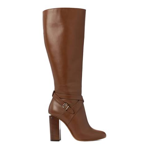 BALLY Women's Tobacco Brown Leather Challie Long Boot