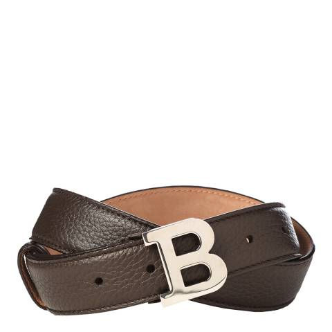 BALLY Ladies Coffee Brown Leather Buckle Belt
