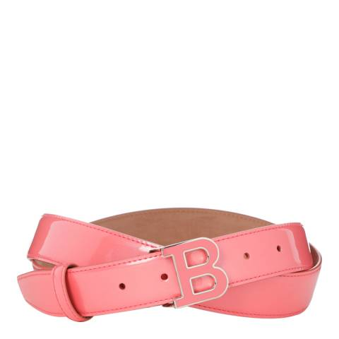 BALLY Ladies Pink Leather 'B' Buckle Belt