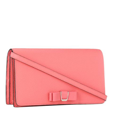 BALLY Ladies Pink Tilson Bow Leather Crossbody Bag