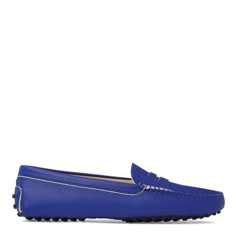 Tod's Womens Blue Leather Gommino Loafers