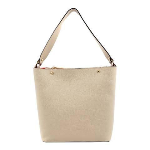 Roberta M Ivory Leather Shoulder Bag