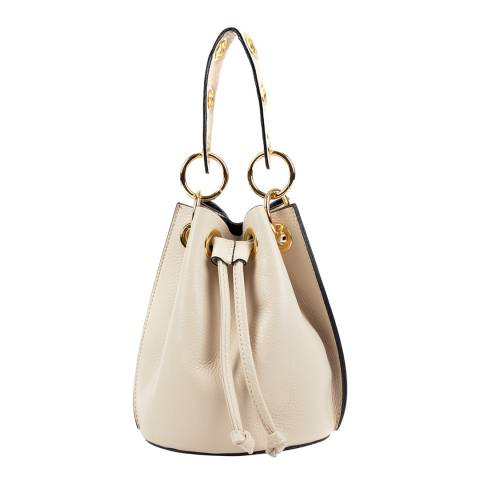 Roberta M Beige Leather Handbag