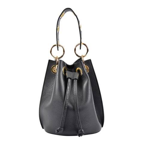 Roberta M Black Leather Handbag
