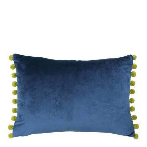 Riva Home Indigo/Olive Kuji Cushion 35x50cm