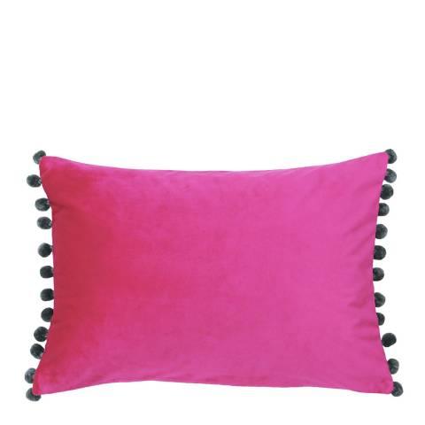 Riva Home Magenta/Grey Fiesta Velvet Cushion 35x50cm