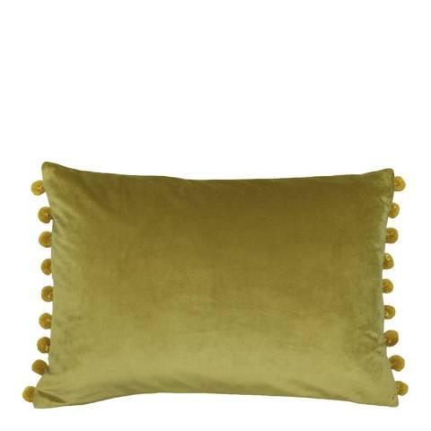 RIVA home Bamboo/Gold Fiesta Velvet Cushion 35x50cm