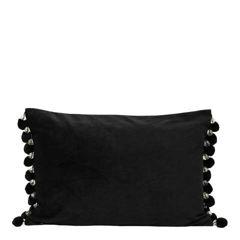 Riva Home Black Crystal Pom Pom 35x50cm Cushion