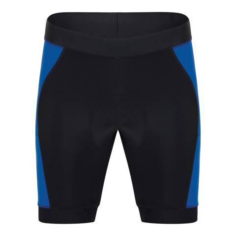 Dare2B Men's Black/Blue Sidespin Gel Shorts