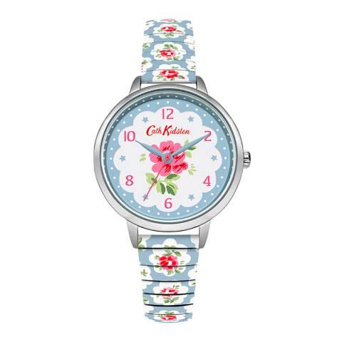 Cath Kidston Blue/Floral Print Provenance Rose Expander Watch