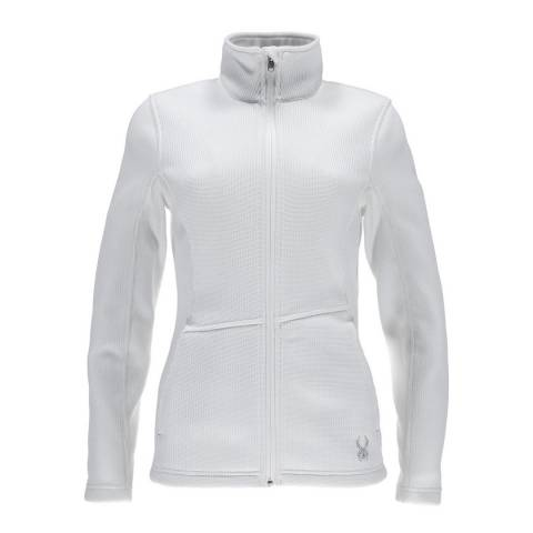 Spyder Women's White Endure Full Zip Mid Wt Jacket
