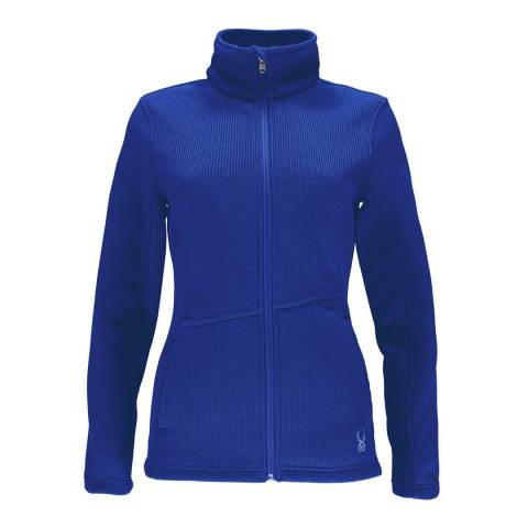 Spyder Women's Blue Endure Full Zip Mid Wt Jacket