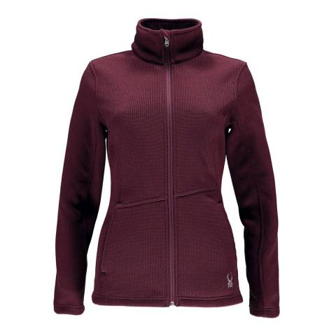 Spyder Women's Burgundy Endure Full Zip Mid Wt Jacket