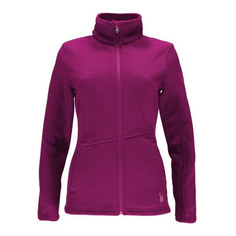 Spyder Women's Purple Endure Full Zip Mid Wt Jacket