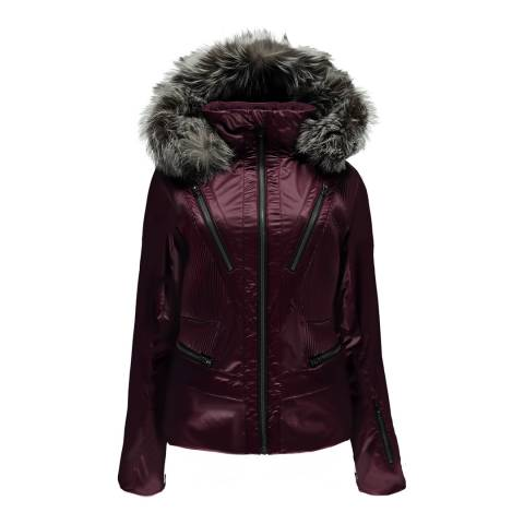 Spyder Women's Burgundy Posh Jacket