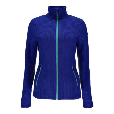 Spyder Women's Blue Endure Full Zip Sweater