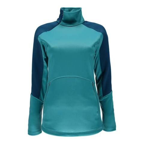 Spyder Women's Turquoise Bandita Half Zip Stryke Sweater