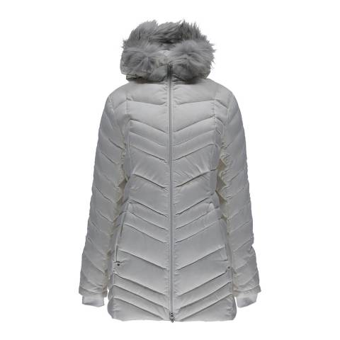 Spyder Women's White Timeless Long Faux Fur Jacket