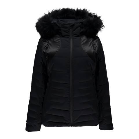 Spyder Women's Black Falline Faux Fur Jacket