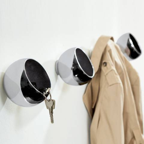Philippi Silver Sphere Ball Wall Hook