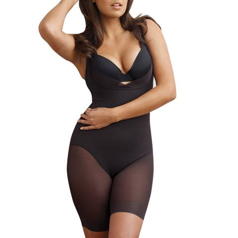 Miraclesuit Black Singlette with Wonderful Edge Bodysuit
