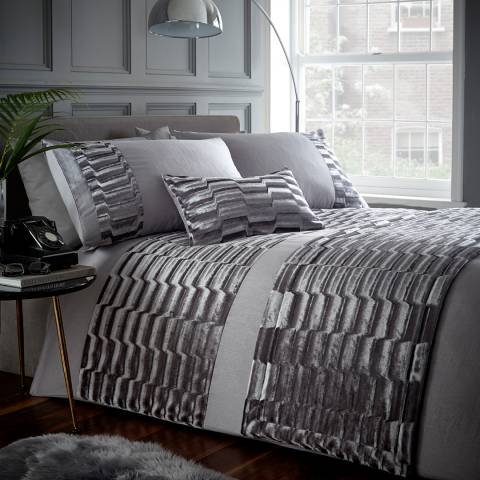 Portfolio Murray Single Duvet Cover Set, Stone