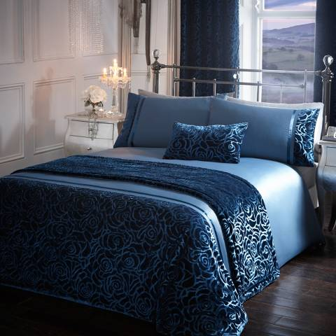 Portfolio Amelia Super King Duvet Cover Set, Teal