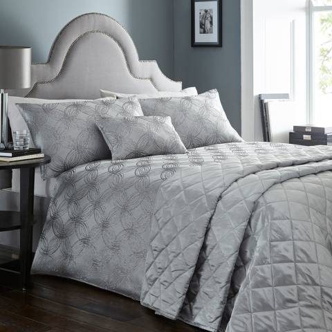 Portfolio Luna Single Duvet Cover Set, Pewter