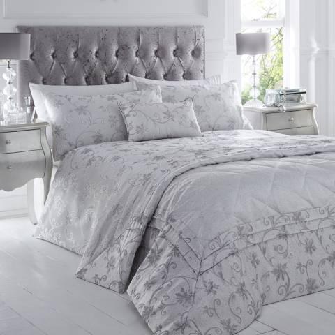 Portfolio Ravina Boudoir Cushion, Silver