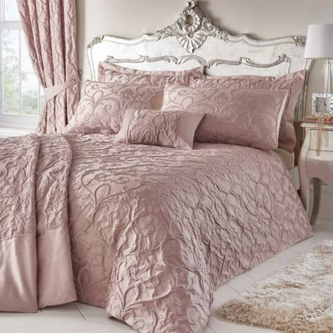 Portfolio Bentley Double Duvet Cover Set, Blush