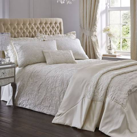 Portfolio Spencer Double Duvet Cover Set, Ivory