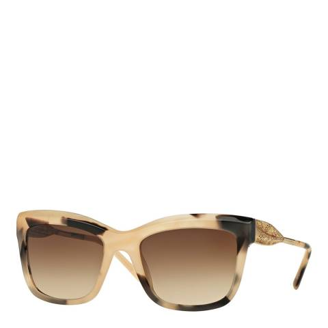 Burberry Marble Beige Gold / Brown Gradient Plastic and Metal