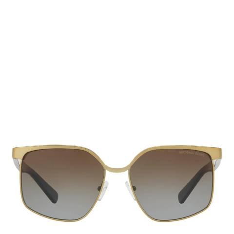 Michael Kors Women's Gold Brown Pale Gold / Brown Sunglasses 56mm