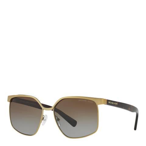 Michael Kors Women's Pale Gold/Brown Sunglasses 56mm
