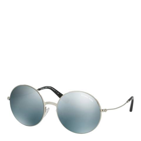 Michael Kors Women's Silver / Silver Mirror Sunglasses 55mm