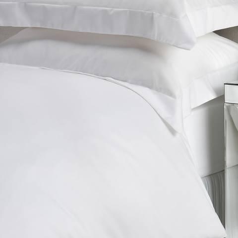 Christy 400TC Sateen King Flat Sheet, White