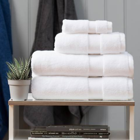 The Lyndon Company High-Loft Cotton Pair of Hand Towels, White
