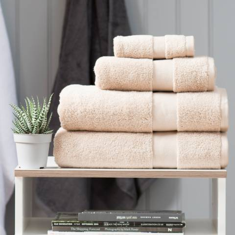 The Lyndon Company High-Loft Cotton Pair of Hand Towels, Latte