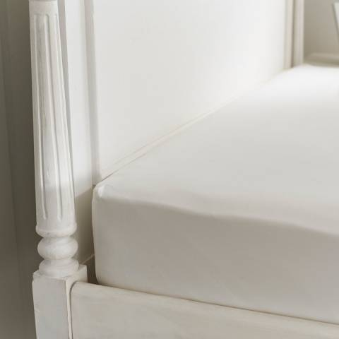 The Lyndon Company 800TC Double Fitted Sheet, White